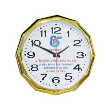 Đồng hồ quảng cáo khung tròn