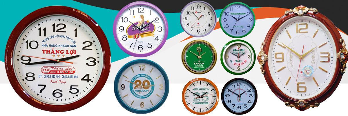 Đồng hồ treo tường làm quà tặng quảng cáo