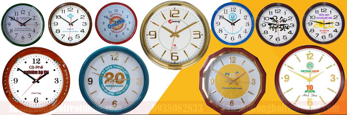 Đồng hồ treo tường quà tặng khung tròn