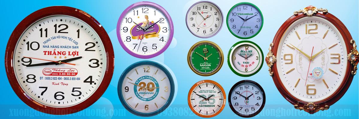 Đồng hồ treo tường in logo GLU 05