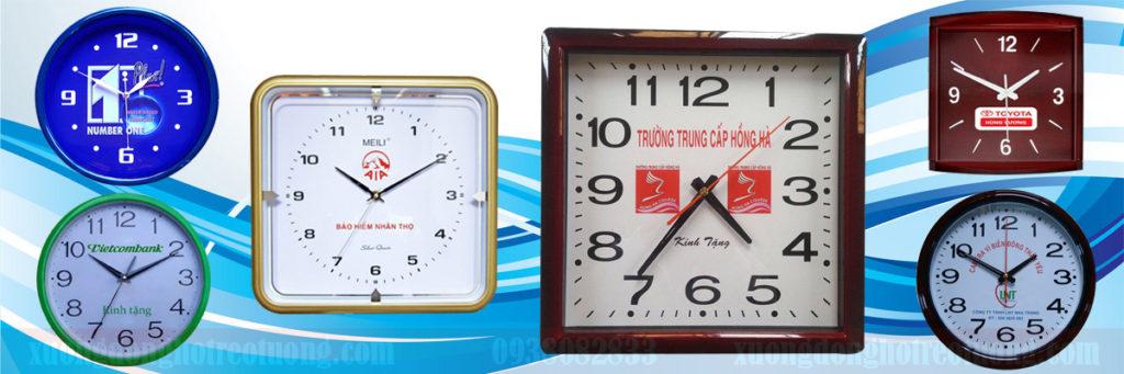 Đồng hồ treo tường làm quà biếu người sử dụng dịch vụ