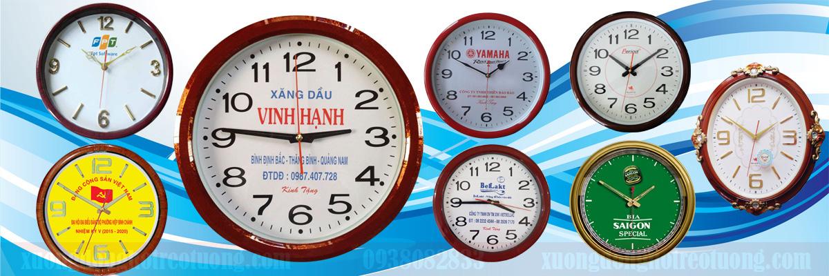 Đồng hồ treo tường quà tặng quảng cáo